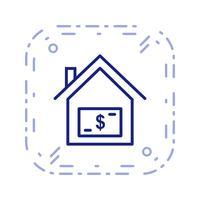 Icône de vecteur de prix maison