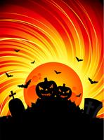 illustration vectorielle sur un thème d'halloween avec des citrouilles vecteur