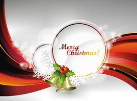 Vector illustration de Noël avec houx et cloches sur l'espace de texte