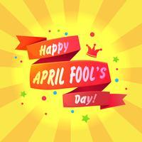 Bannière Félicitations pour le premier avril vecteur