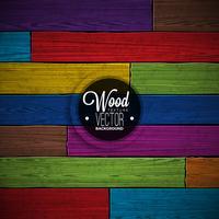 Couleur de vecteur peint design fond texture bois