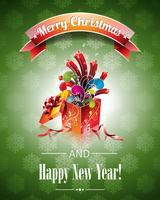 Vector illustration de Noël avec des coffrets cadeaux magiques