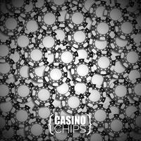 Illustration vectorielle sur un thème de casino avec des jetons noirs