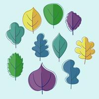 clipart feuilles vertes vecteur