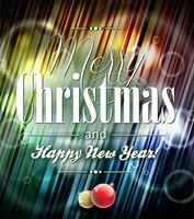 Illustration de vecteur joyeux Noël avec la conception typographique