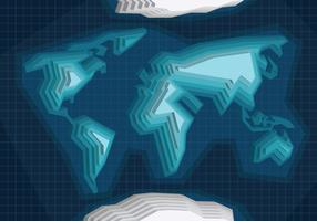 Carte internationale 3d vecteur