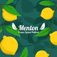 menton france fête du citron vecteur
