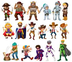 Des gens en costumes différents