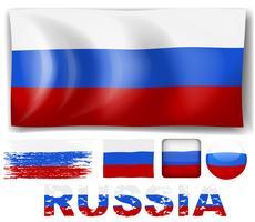 Drapeau de la Russie dans différents modèles vecteur
