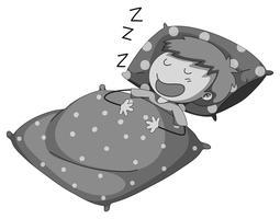 En train de dormir vecteur