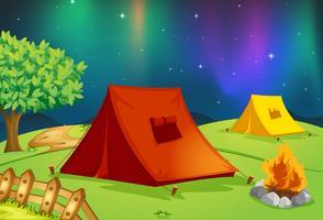 maison de tente vecteur