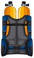 Réservoir d'oxygène et veste de sécurité vecteur