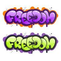 Illustration vectorielle de lettrage graffiti plat moderne vecteur