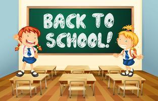 Retour à l'école vecteur