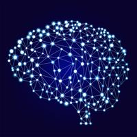 Bannière de réseaux de neurones artificiels. Une forme de connexionnisme ANN. Systèmes informatiques inspirés des réseaux de neurones biologiques. Illustration vectorielle