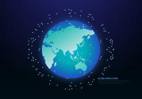 Carte internationale du globe 3D