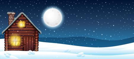 Cabine dans la neige