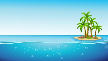 Une île vecteur