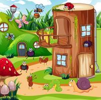 Insecte dans la maison des fées vecteur
