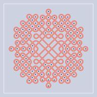 Illustration vectorielle modèle plat indien Kolam