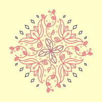Illustration vectorielle modèle plat indien fleur Kolam vecteur