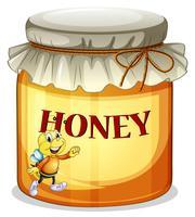 Un pot de miel vecteur