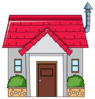 Une maison simple isolée vecteur