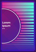 Milieux rétro abstraits de néon. Avec différentes formes sur l'affiche. Illustration de plat Vector