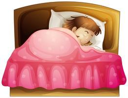 Une fille endormie