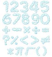 Icône de numéro de police et math vecteur