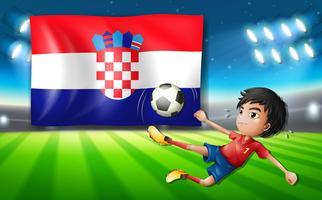 Modèle de joueur de football Croatie vecteur