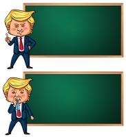 Modèle de bannière avec le président américain Trump