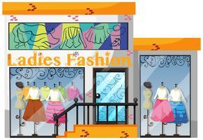 Un magasin de mode pour dames vecteur