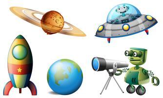 Vaisseaux spatiaux et robots vecteur