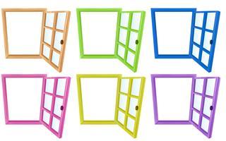 Cadres de fenêtre vecteur