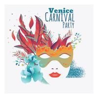 Concept de fête avec masque pour carnaval heureux vecteur