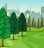 Une scène de parc naturel vecteur