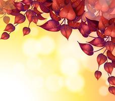 Papeterie avec des feuilles en forme de coeur