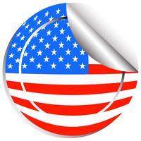 Conception d'autocollant pour le drapeau des Etats-Unis vecteur