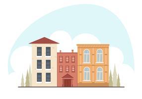 Illustration de vecteur de paysage urbain