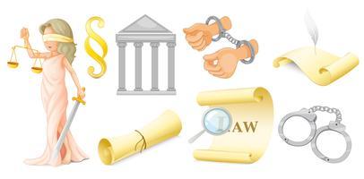 Ensemble juridique vecteur