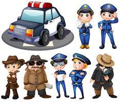 Police et détectives vecteur