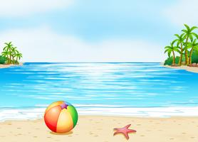 Une plage vecteur