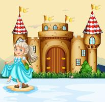 Princesse mignonne au palais