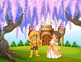 Chevalier et princesse vecteur