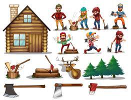 ensemble de bois