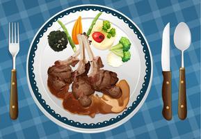 un aliment et un plat vecteur