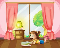 Une fille lisant un livre