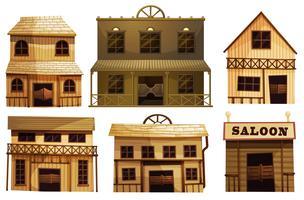 Bars de saloon dans l'ouest vecteur