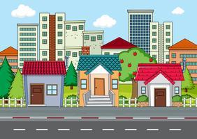 Un paysage urbain moderne vecteur